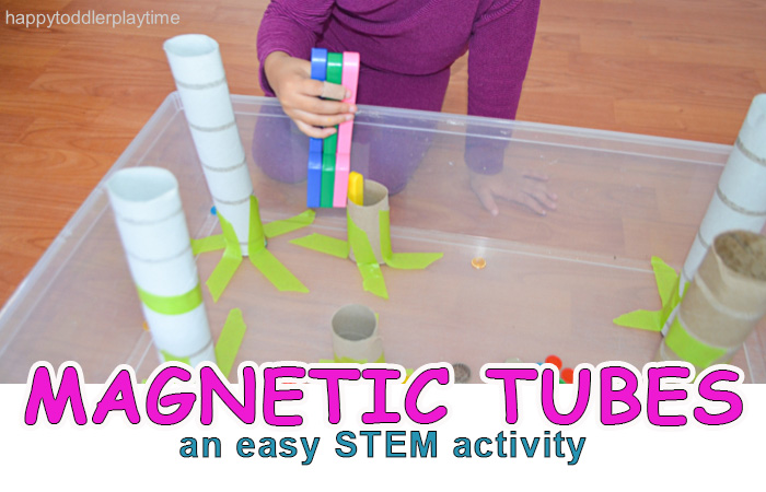 Magnetic Tubes Happy Toddler Playtime