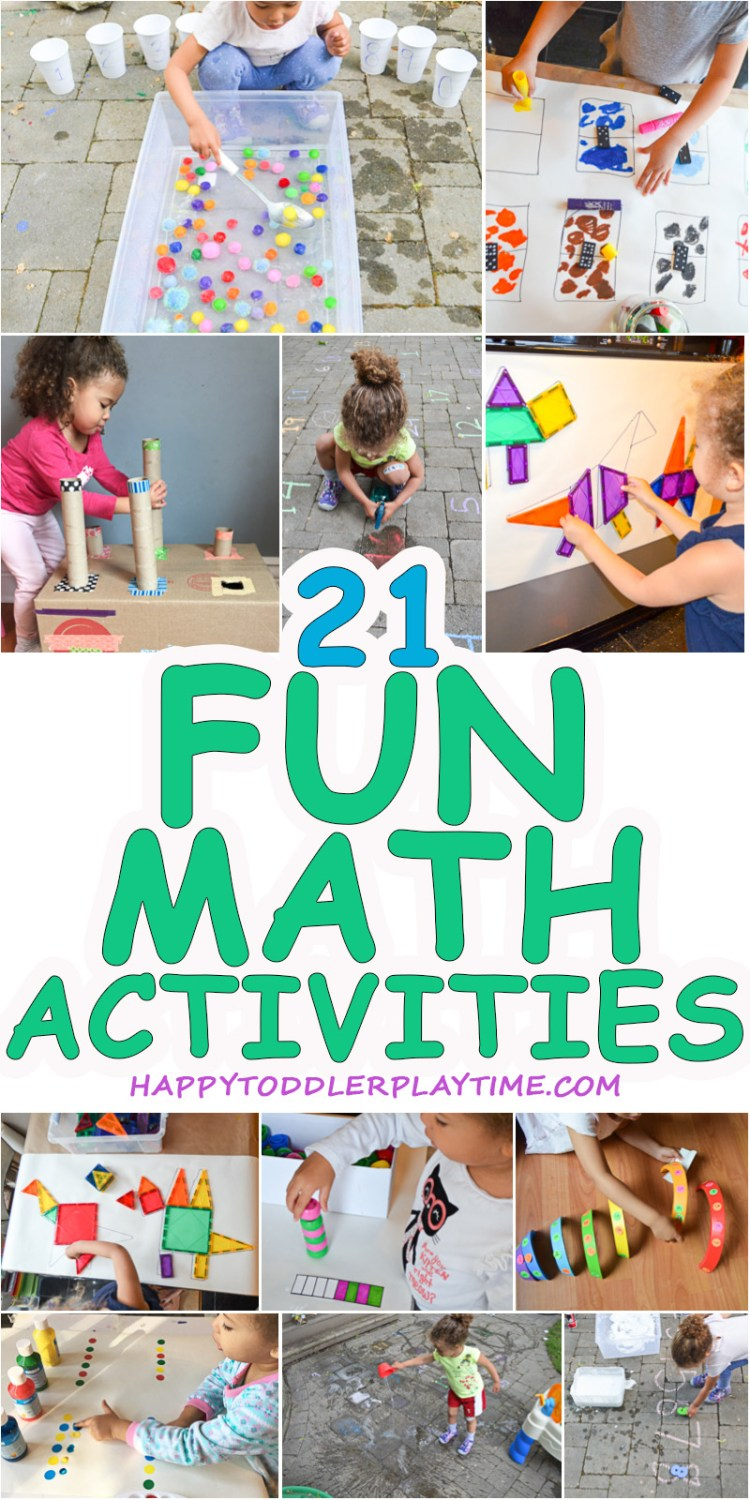 21 Fast & Easy Math Activities - HAPPY TODDLER PLAYTIME
