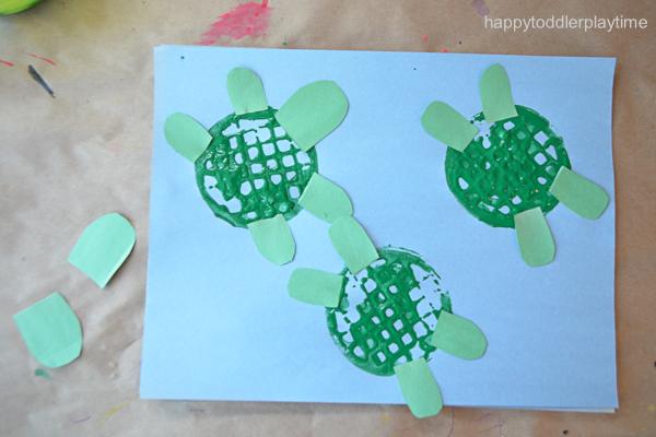 Paper Bowl Craft Stick Turtle Craft | Turtle crafts, Craft stick ... | 400x600