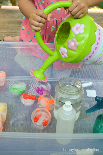 Icy Letters: A Literacy Sensory Bin for toddlers and preschoolers