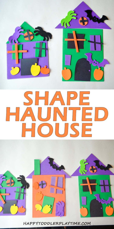SHAPE HAUNTED HOUSE CRAFT pin