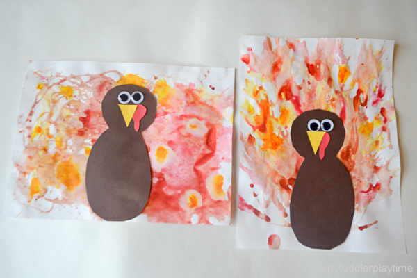BLOW PAINTED TURKEY CRAFT 26