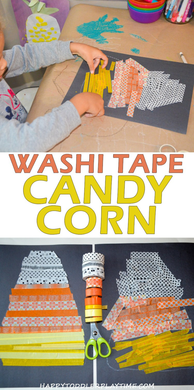 CANDY CORN WASHI TAPE CRAFT pin