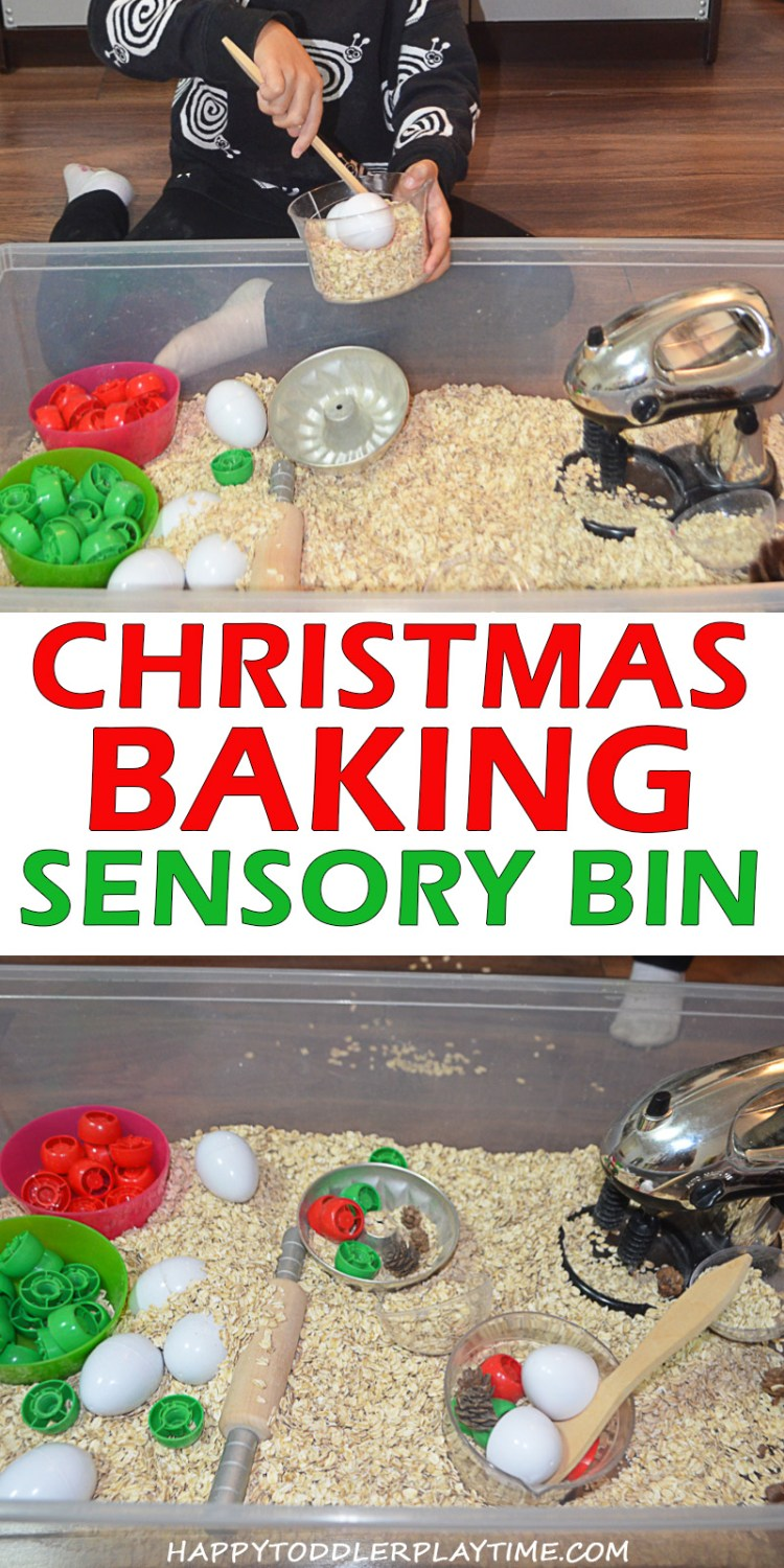 CHRISTMAS BAKING SENSORY BIN pin1