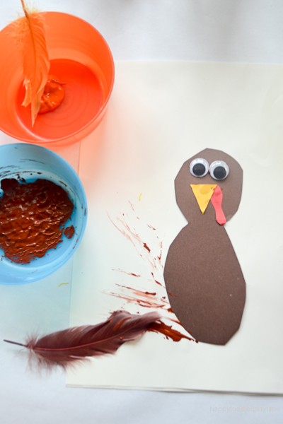 FEATHER PAINTED TURKEY 0