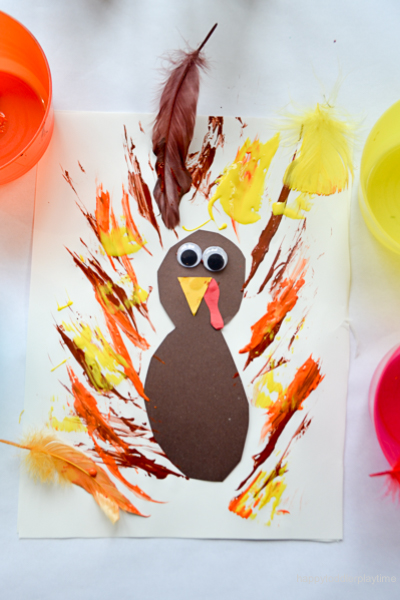 FEATHER PAINTED TURKEY 4
