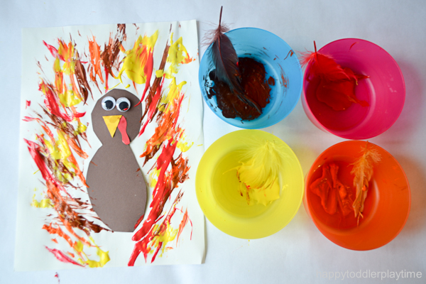 FEATHER PAINTED TURKEY 9