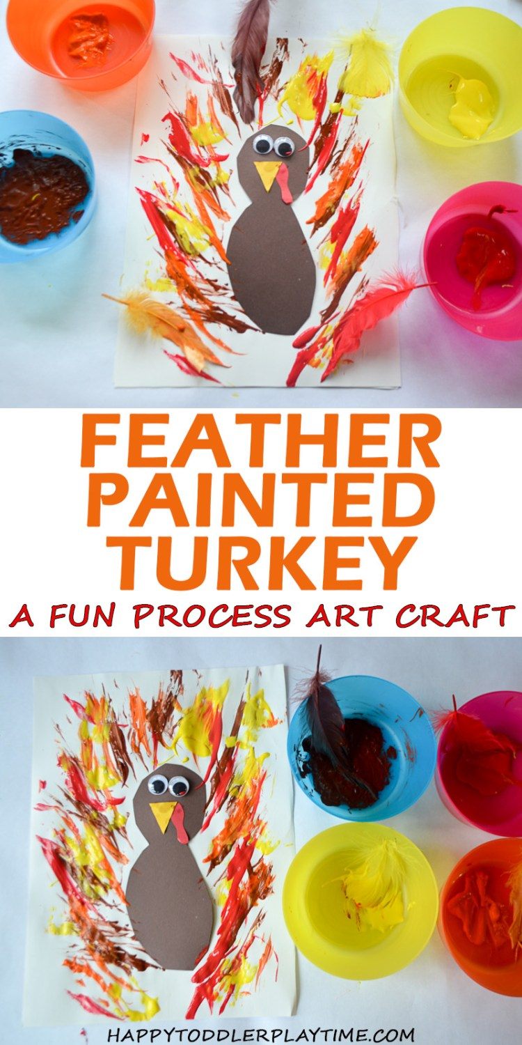 FEATHER PAINTED TURKEY pin