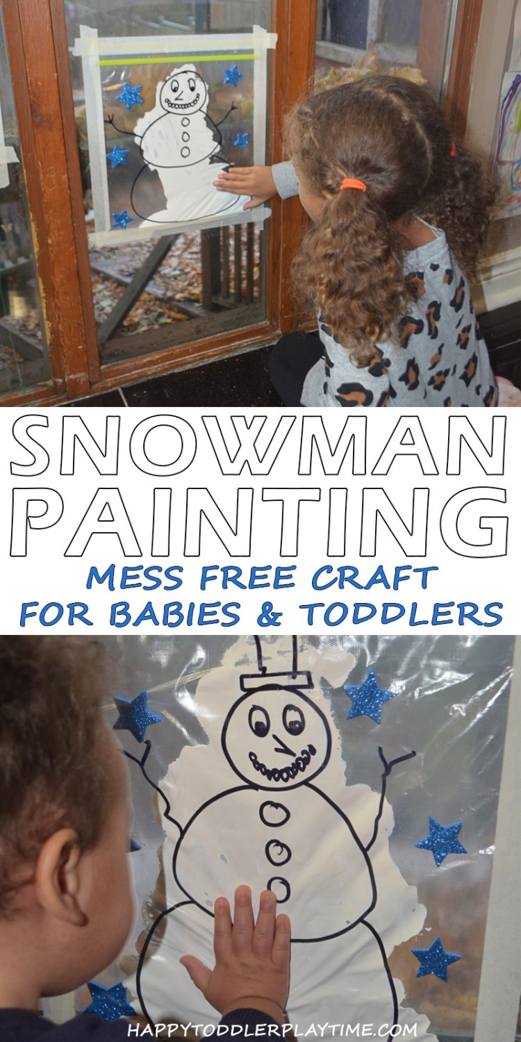 SNOWMAN MESS FREE PAINTINGpin