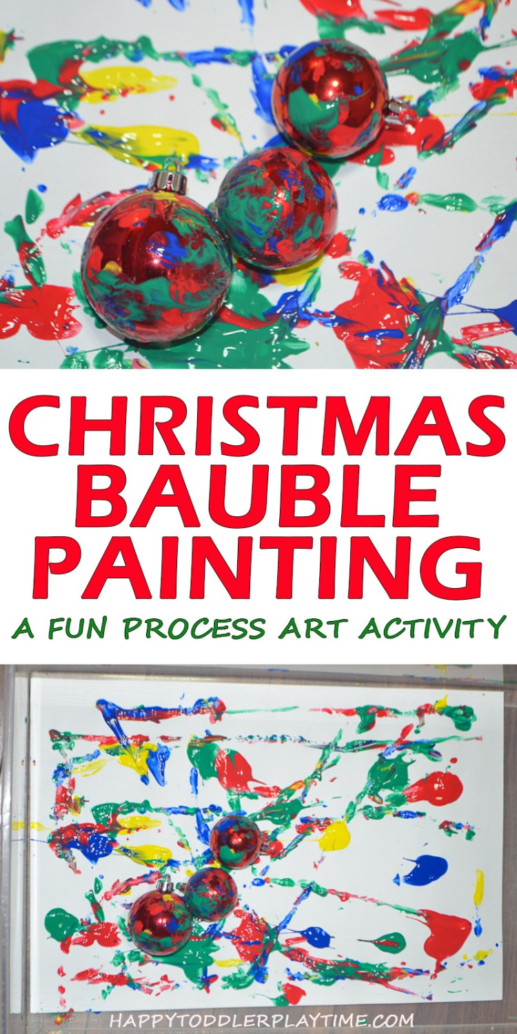 CHRISTMAS BAUBLE PAINTING pin