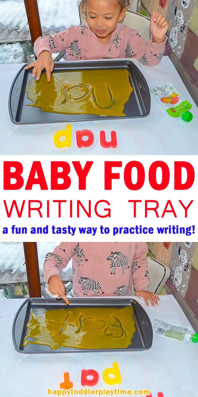 BABY FOOD WRITING TRAY pin