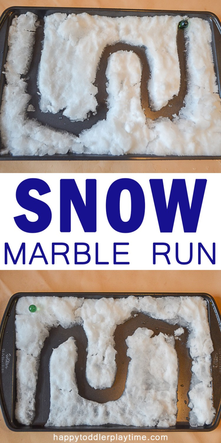 SNOW MARBLE RUN pin