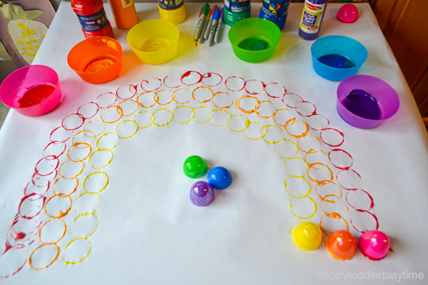 Easter Egg Rainbow Craft for toddlers & Preschoolers