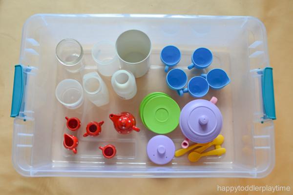 Colour Mixing Sensory Bin for toddler & Preschooler