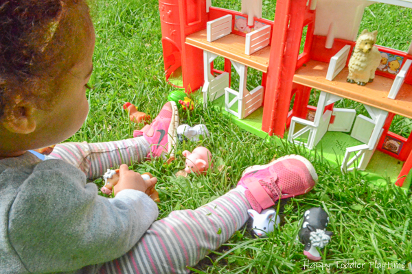 Fun outdoor activity for toddlers