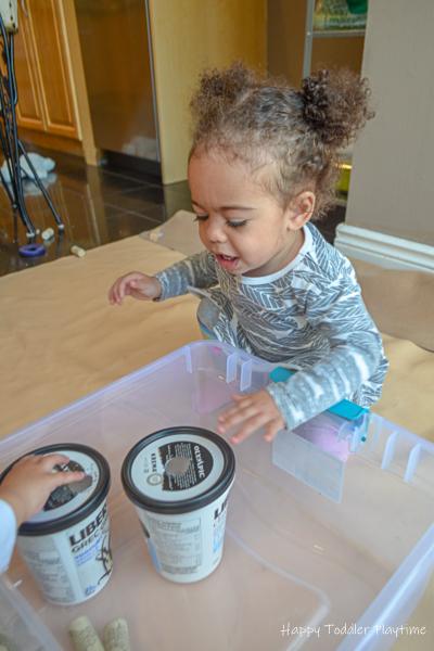 Fine motor toddler activity