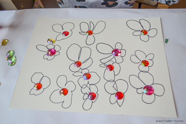 Watercolours Flowers Kids art project