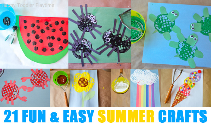 21 Fun Easy Crafts For Summer Happy Toddler Playtime