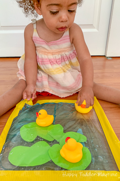 Rubber Duck Pond Sensory Bag for babies and toddlers
