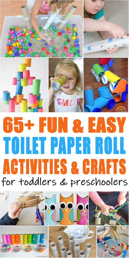 65 toilet paper roll sensory bins learning activities, and crafts for toddlers and preschoolers