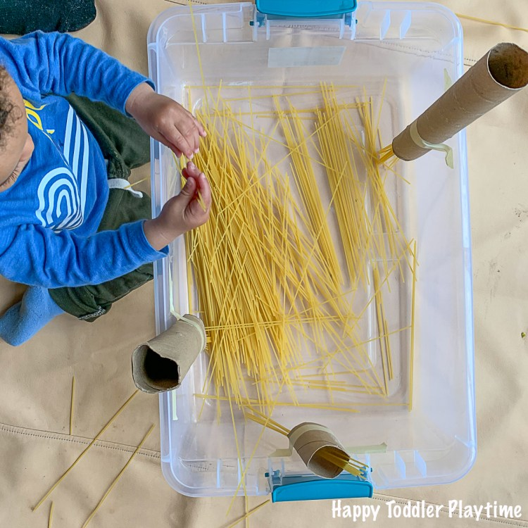 Spaghetti Drop Busy Activity for Toddlers