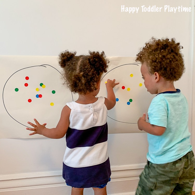 Dot Sticker Activity for toddlers