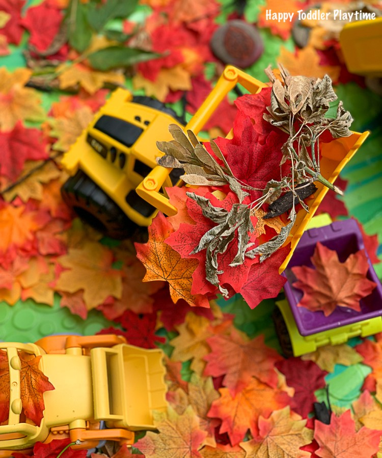 a fun fall sensory bin for toddlers and preschoolers