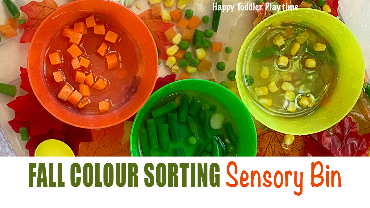 A colour sorting activity for Autumn