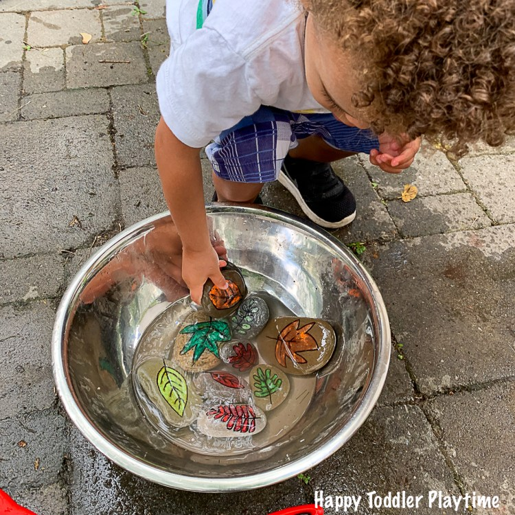 rock activity for toddler for Fall