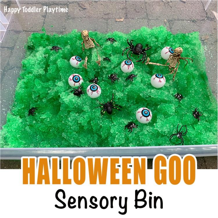 HALLOWEEN GOO Sensory Bin