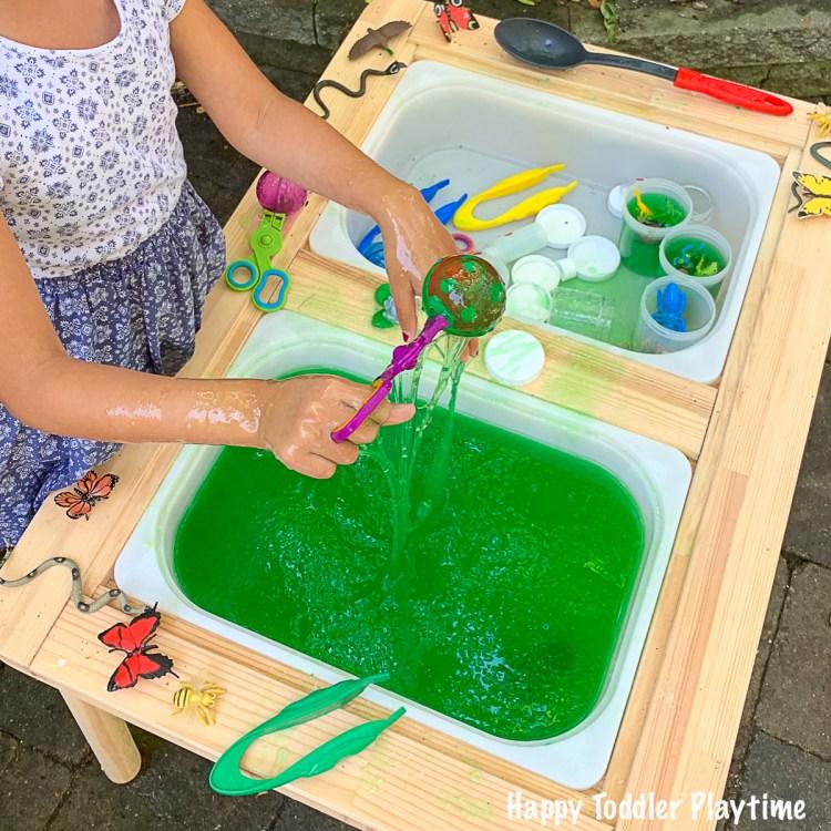 one step slime bug sensory bin