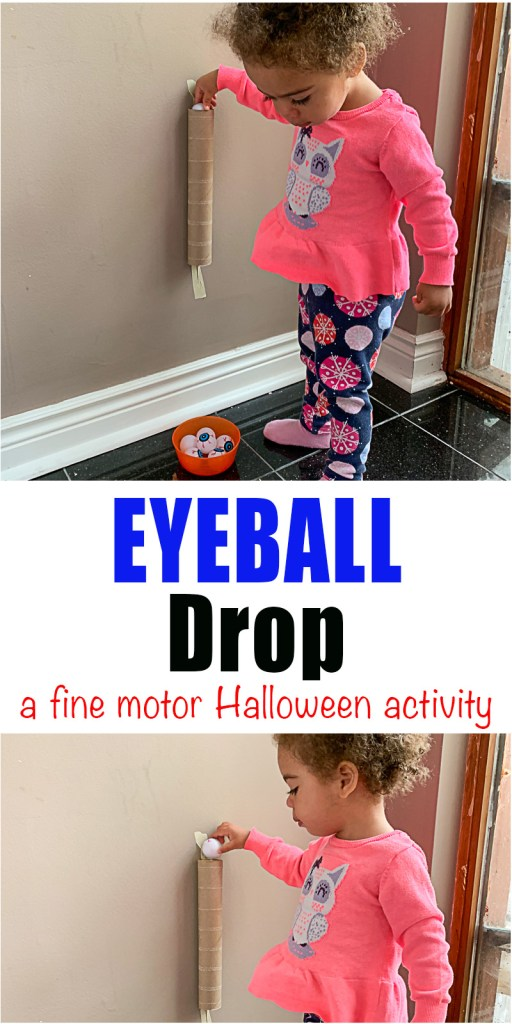 Eyeball Drop: Fine Motor Halloween Activity
