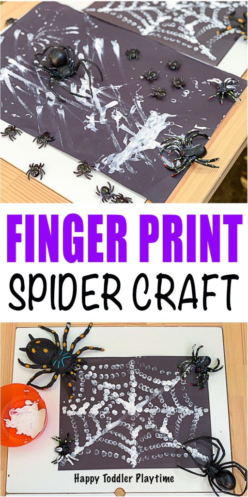 Finger print Halloween art for toddlers and preschoolers