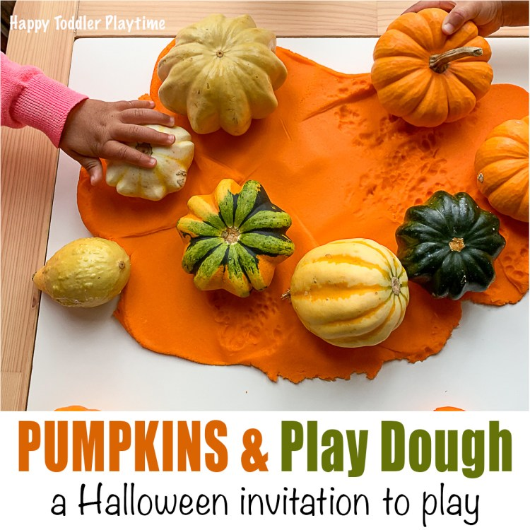 Pumpkins and Play Dough Invitation