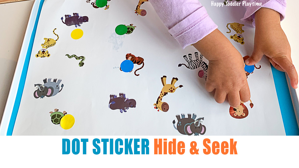 Dot sticker hide and seek toddler and preschooler activity