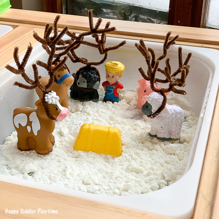 Christmas and winter sensory activity for toddlers and preschoolers