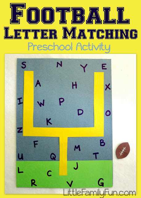 super bowl foot ball activities and crafts for toddlers and preschoolers