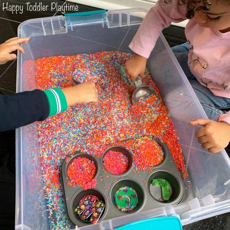 Hide the letters preschooler activity