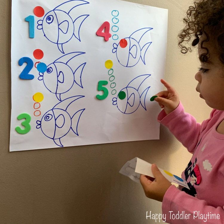 Sticker Fish Counting toddler dot sticker math activity