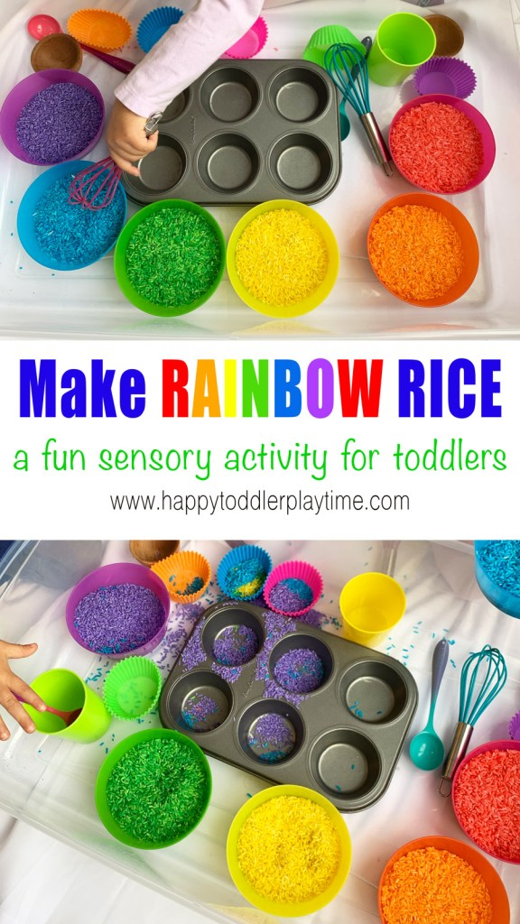 Sensory Bin Filler 2 Pack5 Cups Rainbow Sensory Rice Toddler Preschooler Activity
