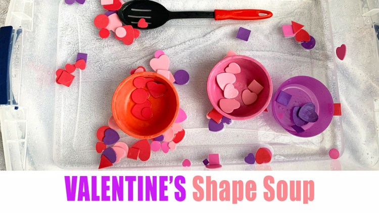 Valentine's Shape Soup for toddlers and preschoolers