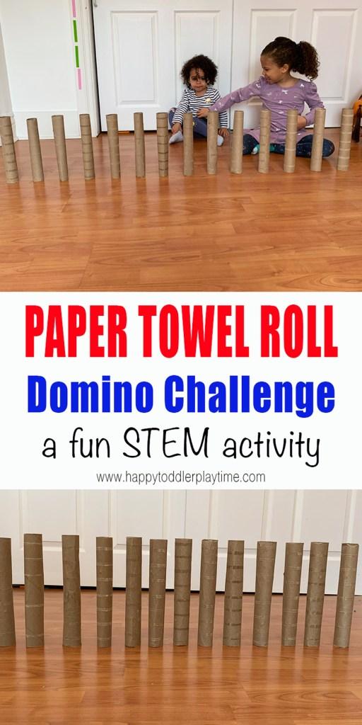 paper towel roll domino challenge
