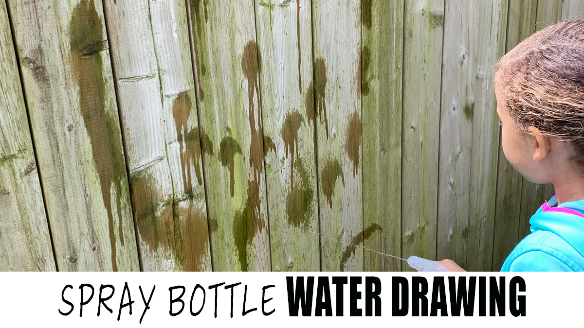 Spray Bottle Water Painting