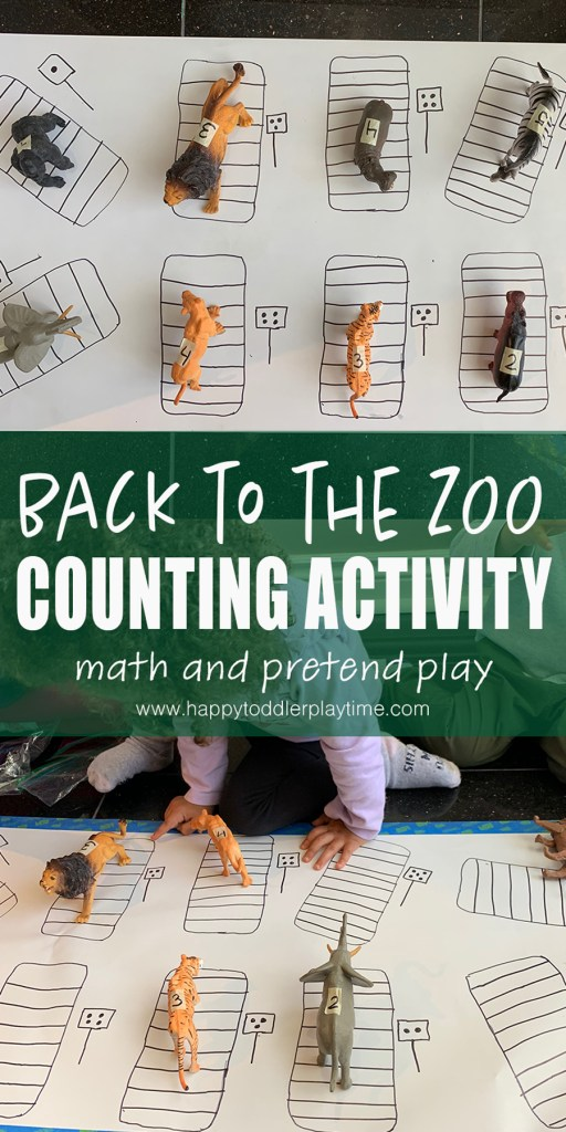 zoo counting activity for toddlers and preschoolers