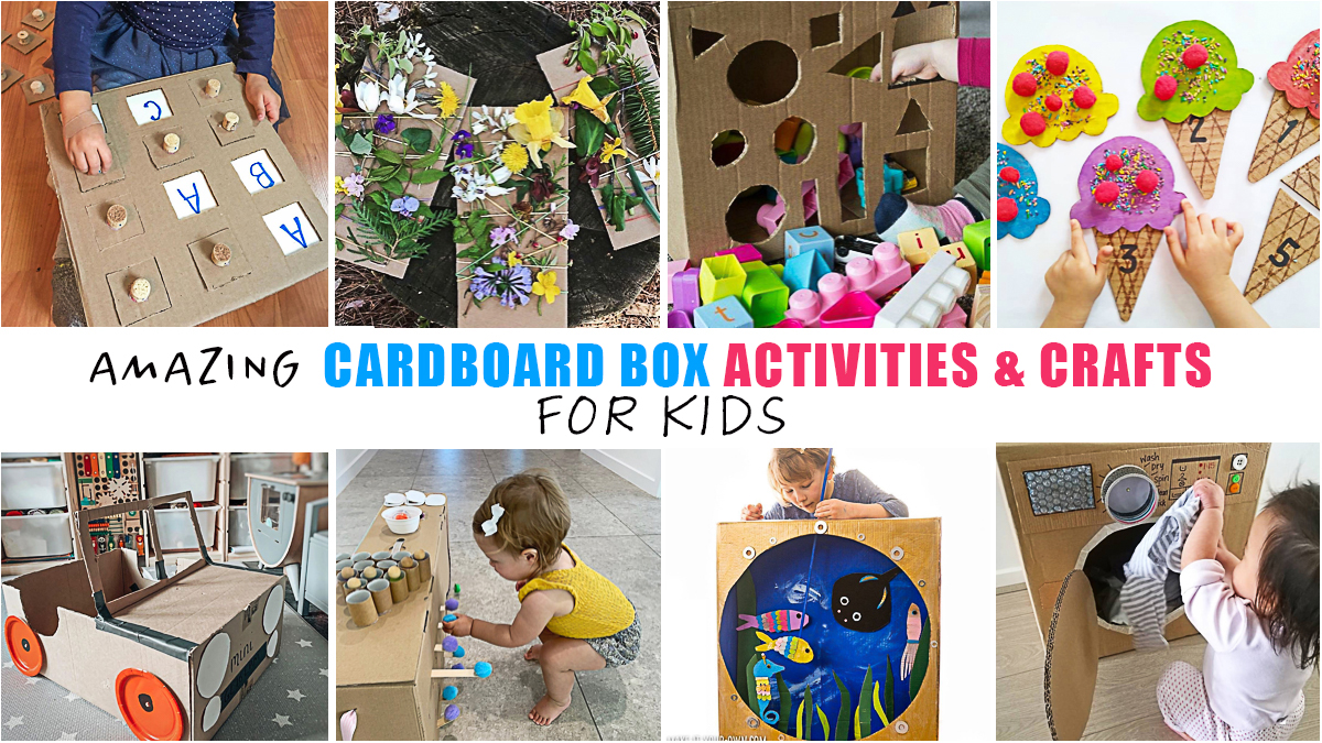 97 Cardboard Box Activities Crafts For Kids Happy Toddler Playtime
