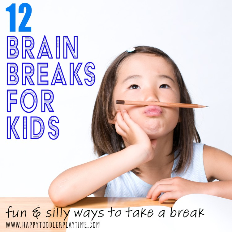 brain breaks for kids, preschoolers and kindergartners