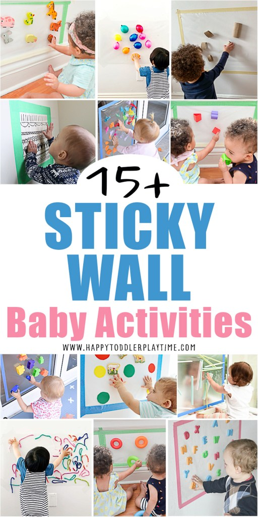sticky wall activities for babies