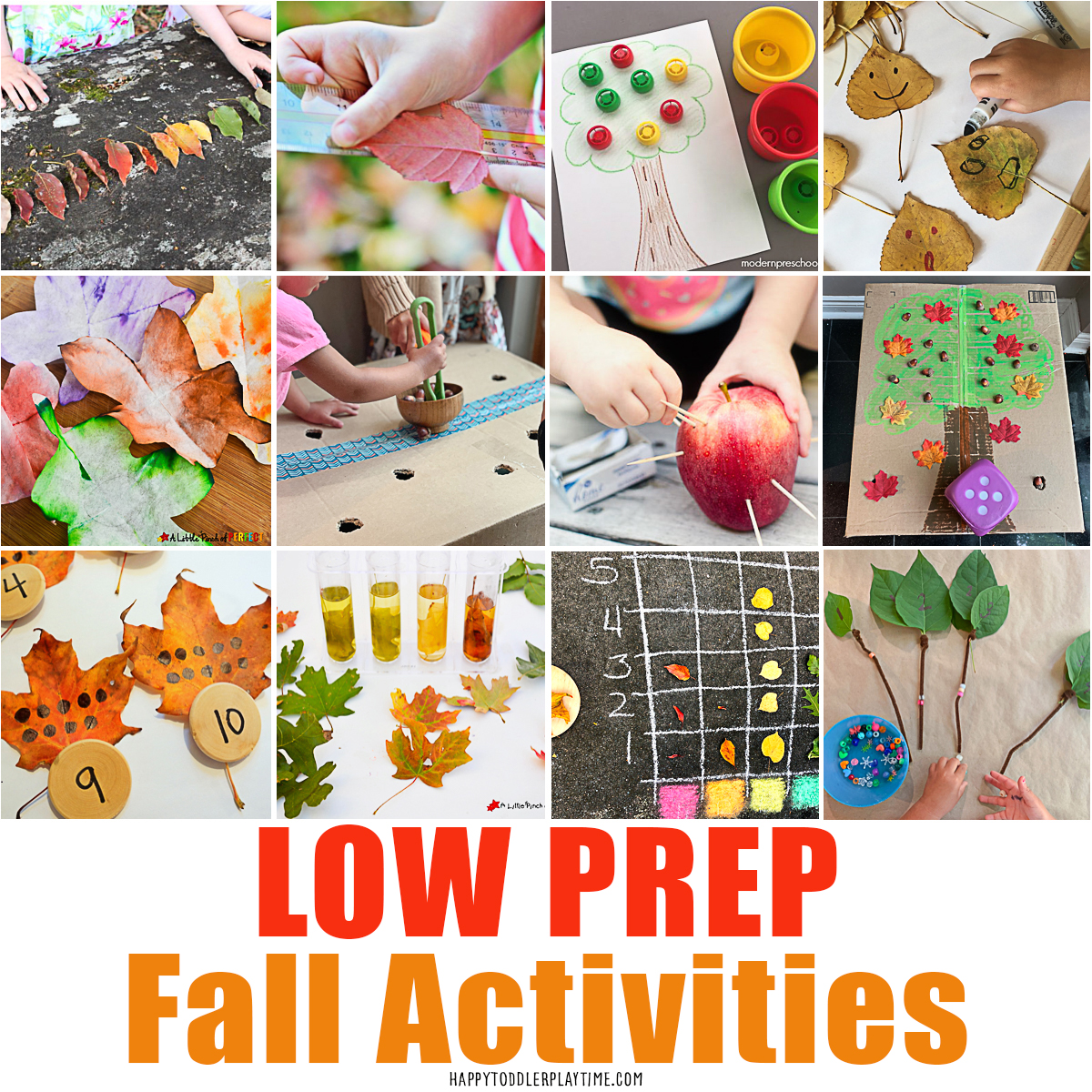 Low Prep Fall Activities For Kids - HAPPY TODDLER PLAYTIME