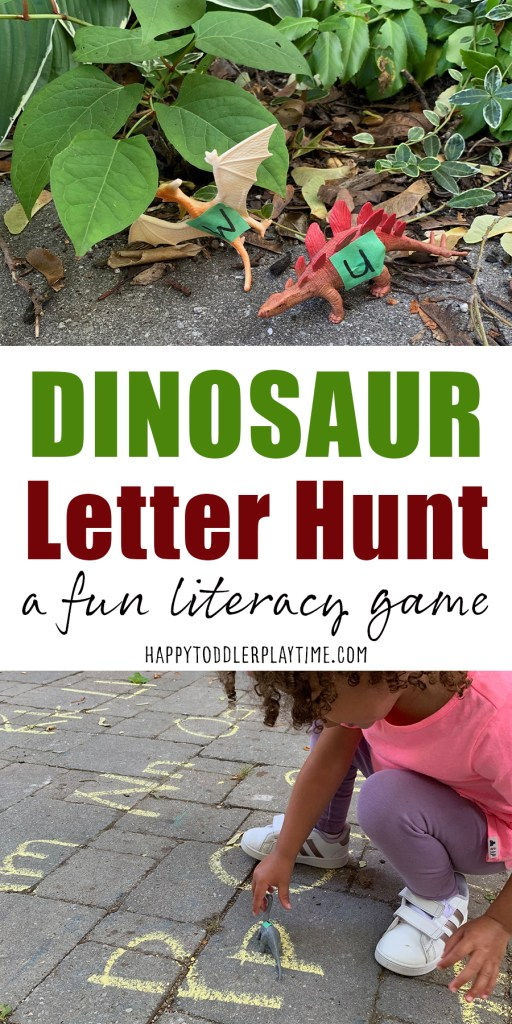 dinosaur letter hunt for toddler and preschoolers