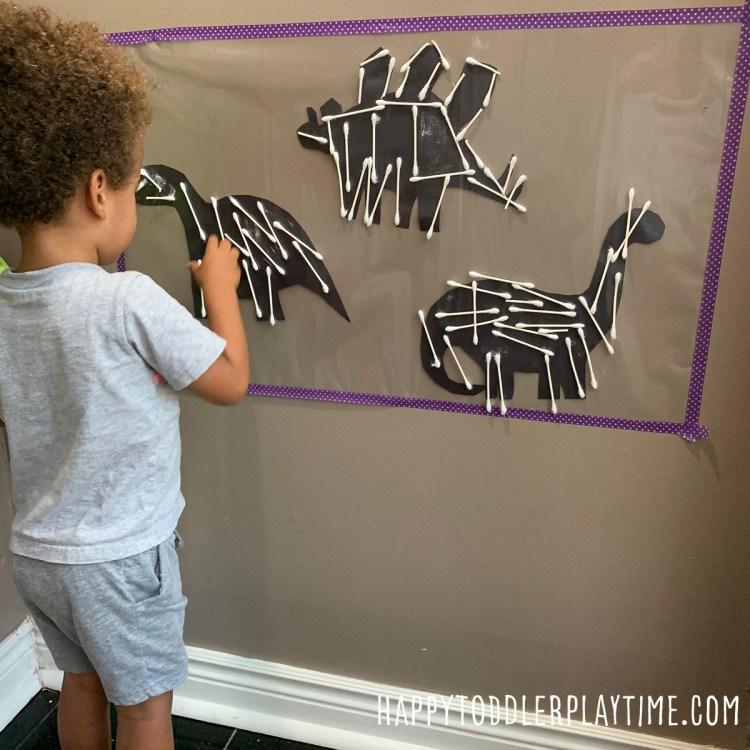 Dinosaur Bones Sticky Wall